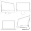 Computer displays and laptop