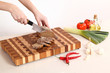 products on a chopping board