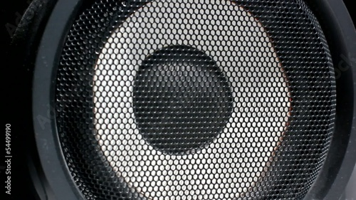 Loadspeaker. Acoustic system. Playing music