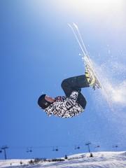 Man ski jumping