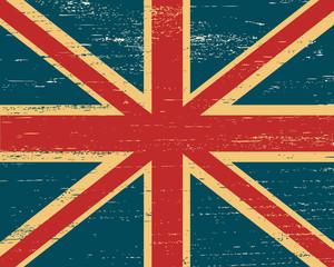 Vector shabby British flag.