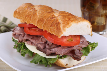 Roast Beef on French Bread
