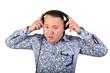 Portrait of a stylish man in headphones