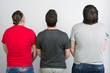 Three gay men in T-shirts are back