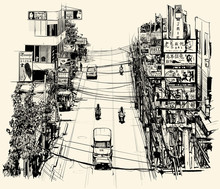 Rue à Bangkok