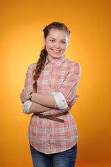positive teenager girl