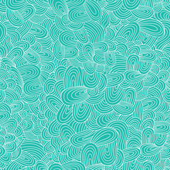 vector seamless abstract hand-drawn pattern, waves background