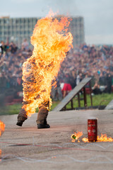 Man on fire stunt shows