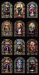 canvas print picture - 12 Kirchenfenster in der Kirche Nuestra Senora de la Concepcion