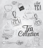 Set tea collection coal