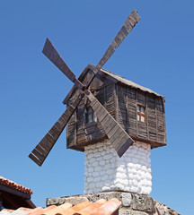 Small windmill in Sozopol, Bulgaria