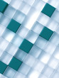 Abstract transparent and blue cubes on a white
