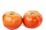 Two Ripe Home Grown Tomatoes