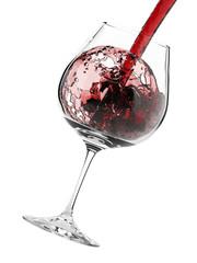 Wine splash isolated on white