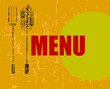 menu design, free copy space, vector
