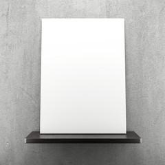 blank frame on the shelf