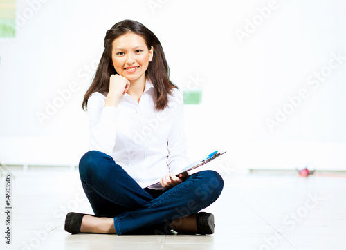 Young asian woman in casual