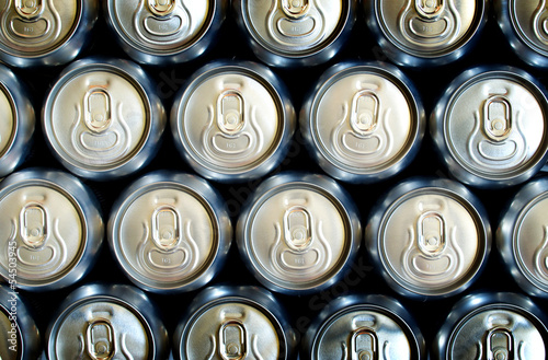 Banks with beer. Abstract background