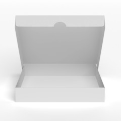 Blank flat opened box
