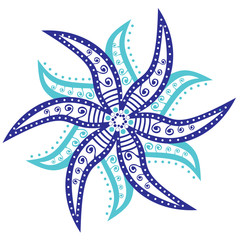 original vector snowflake, lace