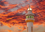 Spectacular cloud & beautiful Al Fateh Mosque Minaret at sunset