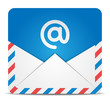 Envelope icon with message. Vector Illustration