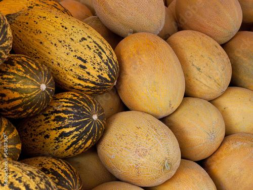 frisch geerntete melonen