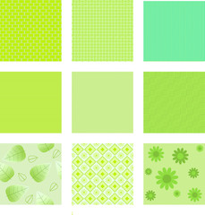 set of green textures for background