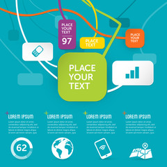 funky infographics template - design background
