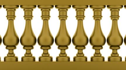 Gold banister