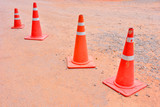 traffic orange road cones