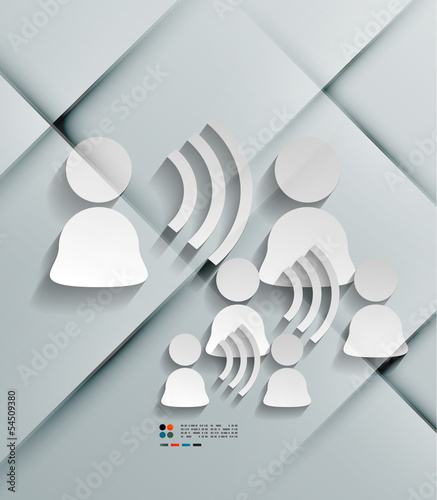 Talk concept vector 3d paper design