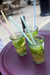 Cocktail, alcool, rhum, mojito, verre, bar, soirée, glace