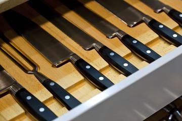 Cuisine, couteau, ustensile, lame, objet, tiroir, meuble