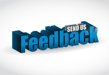 feedback 3d blue sign illustration design