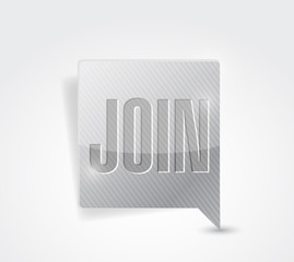 join message bubble pointer illustration