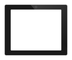 Business tablet landscape orientation vector illustration