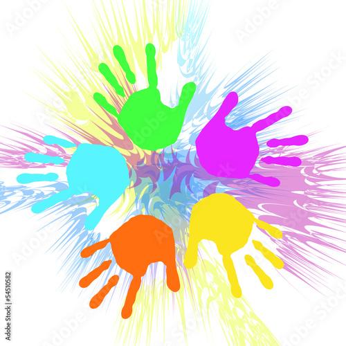 Farbige Hände