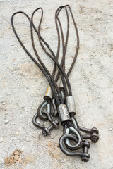 Heavy duty steel wire rope sling