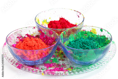 Bowl full of colorful Gulal