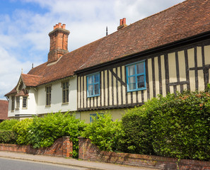 Tudor Houses at Halesworth, Suffolk, UK.
