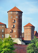 Towers at Wawel Castle