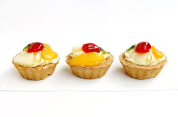Fresh delicious fruit tarts