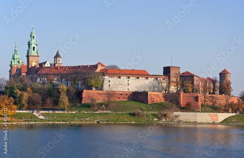 Panel Szklany Wawel Castle in Krakow, Poland