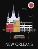 New Orleans. USA.Vector