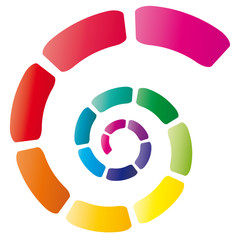 Bunte Spirale mit leuchtenden Farben
