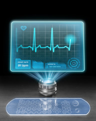 Futuristic medical computer