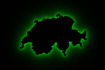 Switzerland map green light
