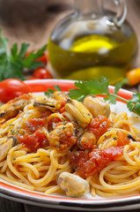 Pasta e cozze - Pasta and mussels