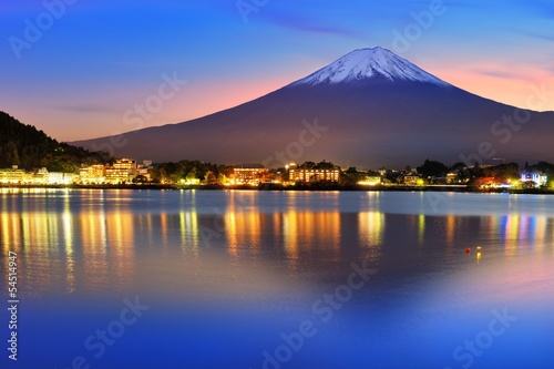 Mt. Fuji at Lake Kawaguchi in Japan